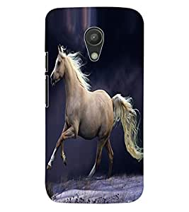 ColourCraft Fabulous Horse Design Back Case Cover for MOTOROLA MOTO G2