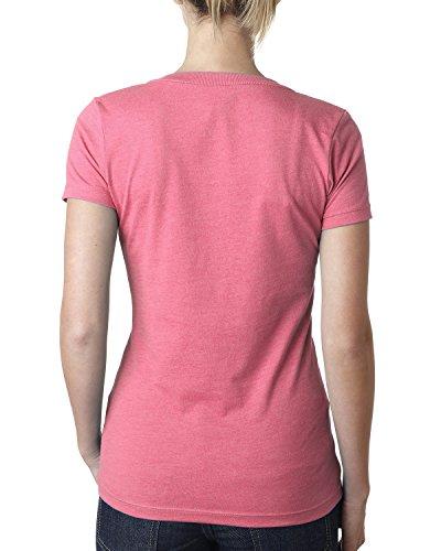 Nächste Level 6640NL Lady CVC Deep V Tee Hot Pink
