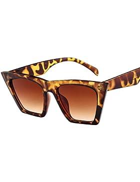 Gafas De Sol De Moda Grandes Mujer LHWY, Gafas Contra UV400 Retro Con Lentes 99% Transparente Gafas Exterior Para...