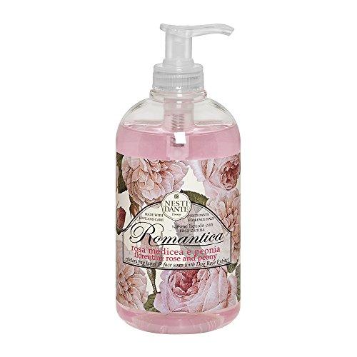 Nesti Dante Liquid Soap Romantica Rose und Peony, 1er Pack (1 x 0.5 l) Romantica Rosen