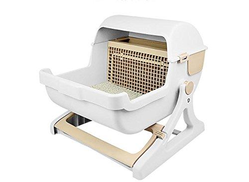 #DAN Katzenstreu Box Senior Luxus Und Luxus Von Semi-Automatische Haustier Katze Toilette#