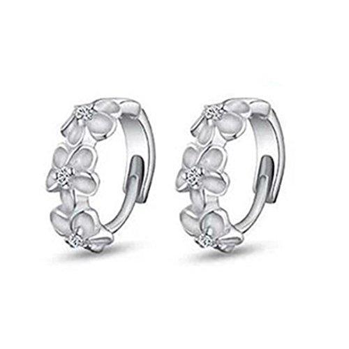 Preisvergleich Produktbild Damen Ohrringe Schmuck Ohrstecker stecker DAY.LIN 1 Paar Frauen Kamelie Design Von Ohrstecker