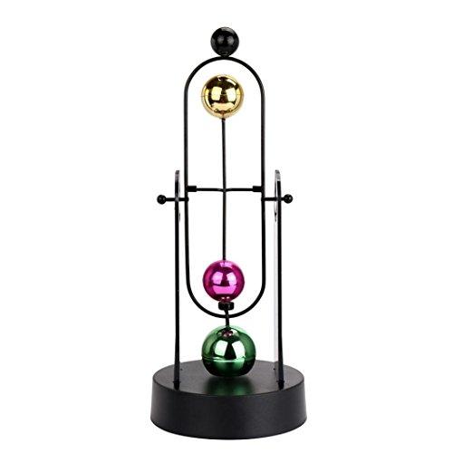 Newton's TwinSpin-Spielzeug, 3D-Farbe, elektronisch, ewige Bewegung, Schreibtisch-Spielzeug, drehbar, Balance Bälle Physik, Wissenschaft Spielzeug Einheitsgröße F -