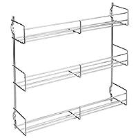 Metaltex 3-Tier 30 x 7 x 30 cm Chrome Plated Spice Rack
