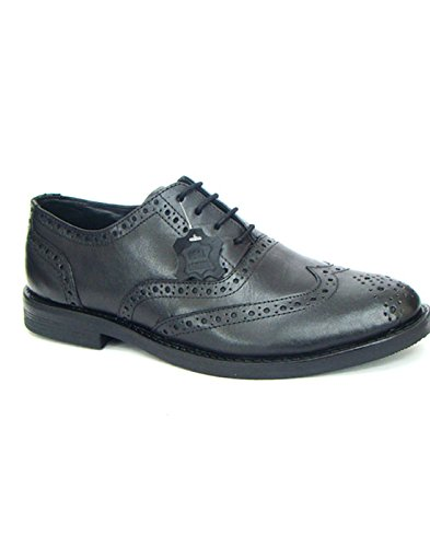 Pure Leather Brogue Shoes by ASM. Upper: Softy Leather, Insole & Lining: Cushioned Leather, Sole: TPR (9)