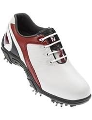 FootJoy 2011FJ Junior zapatos de golf–blanco/rojo–1UK