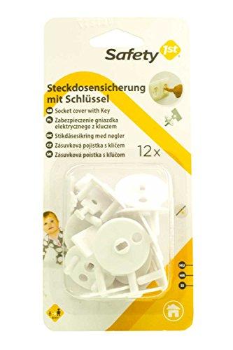 Safety 1st Kindersicherungen 5081217 12 x Steckdosensicherung mit Schlüssel