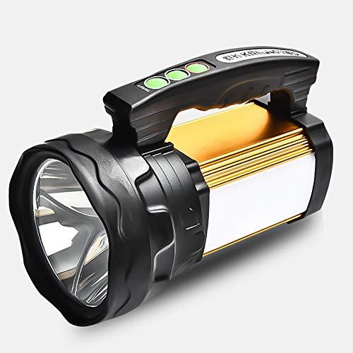 YUN Searchlight@ LED Handscheinwerfer Wiederaufladbare Akkulampe Dimmbar 100W 3 Lichtmodi 6000Mah Powerbank Handlampe IPX5 Wasserdicht Strahler Arbeitsleuchte Ideal Für Camping Outdoor Notfallleuchte
