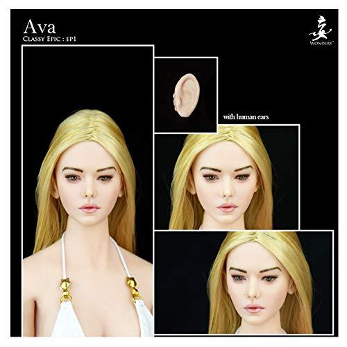 1/6 Female Beautiful Elf Head Sculpture Exquisites Gesicht Und Schöne Gesichtszüge Perfekte Kombination