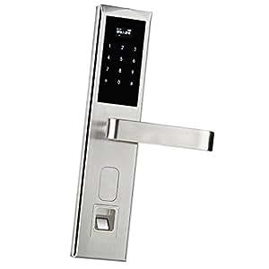 homyl digital t rschloss automatischer t r ffner fingerabdruck haust r sicherheitsschloss. Black Bedroom Furniture Sets. Home Design Ideas