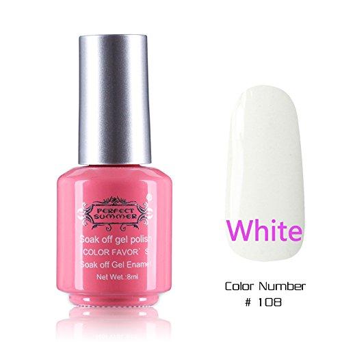 Perfect Summer 1PCS 8ml Vernis à Ongles Semi Permanent UV LED Soak Off Gel Polish Nail Art Manucure 8ml Couleur #108