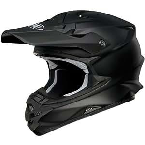 Small : Shoei Solid VFX-W Off-Road/Dirt Bike Motorcycle Helmet - Matte Black / Small