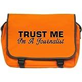 Trust Me I'm A Journalist Messenger Bag - Orange