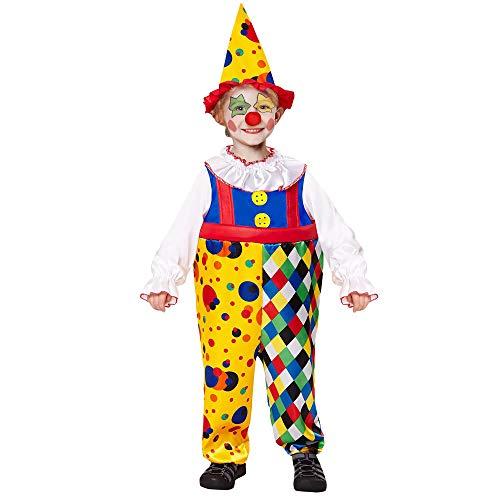Costume Bambino Clown Taglia 116 cm / 4-5 Anni