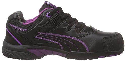 Puma 642880-234-35 Ladies Safety Shoes Stepper Wns Low S2 HRO SRC  Size 2 5  black purple