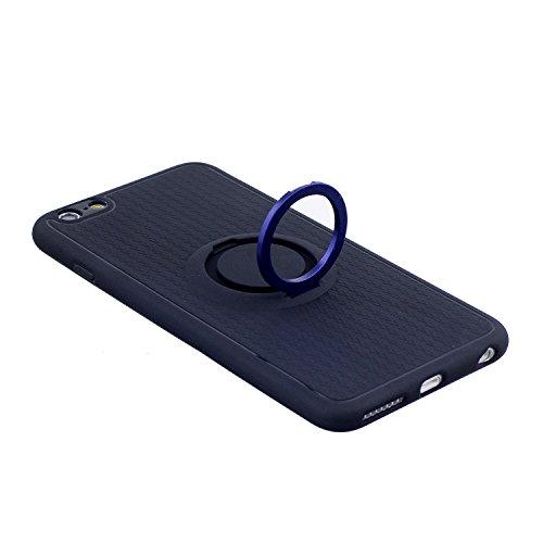 Cover iPhone 6S plus 5.5, Custodia iphone 6 plus, iphone 6S plus Silicone Cover, MoreChioce 360°Protection Moda Painting Colorato Marmo Modello Custodia, Ultra Slim Soft Silicone Gomma Morbido TPU Rag Supporto Blu