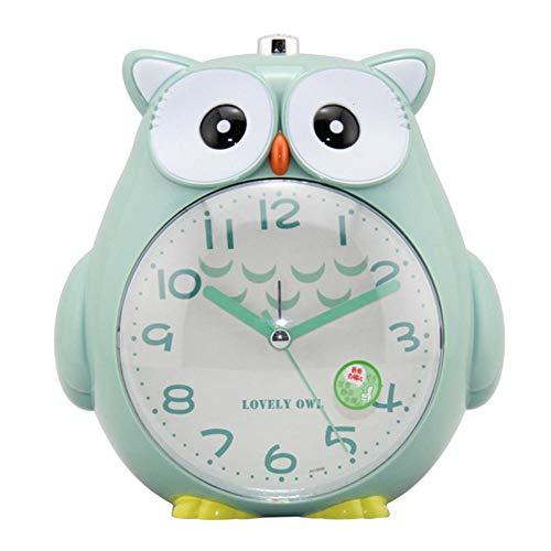 RunkeU Süße Eule Wecker Für Studenten Kinder Bett Snooze Funktion Uhr Mit Weichem Nachtlicht Lauter Alarm Für Schlafzimmer