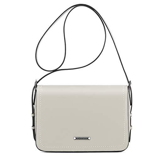 ECOSUSI Tasche Damen Umhängetasche Mode Mädchen Schultertasche Messenger Bag Quadratische Tasche Handtaschen Grau