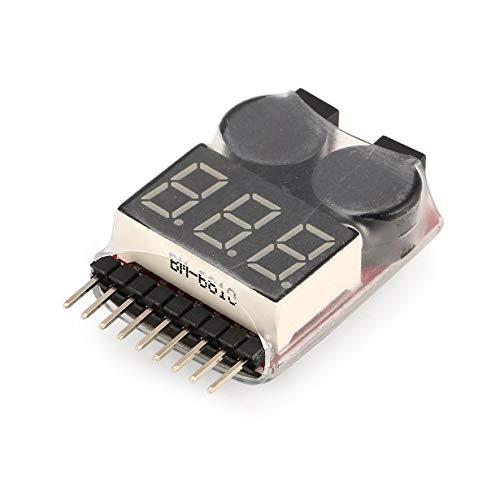 Lipo Battery Voltage Tester Voltmetro Display Checker Dual Speaker 2in1 1s-8s Combination Low Voltage Buzzer Alarm Low Voltage Detection