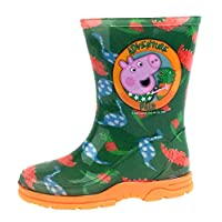 Peppa Pig Boys George Pig Wellington Boots Dino