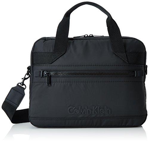 Calvin Klein Jeans Herren Metro Laptop Schultertaschen, Schwarz (Black 001 001), 40x30x9 cm (Laptop-tasche Metro)