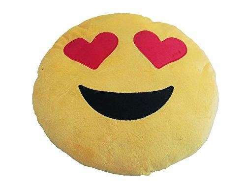 Cojin almohada corazon corazones emoticono regalar regalo novia novio pareja mujer hombre regalos originales san valentin para el coche con ventosa. MUY SUAVE Y CONFORTABLE
