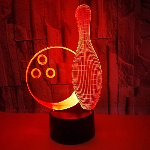 3D Led Bowling Nachtlicht Leuchten 7 Farbwechsel Led Kinder Nacht Visuelle Anime Usb Schreibtischlampe Wohnkultur