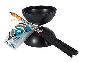 Henrys Diabolo Vision - Diábolo y Palos de Aluminio, Color Negro