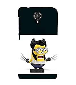 printtech Funny Yellow X Blade Cartoon Back Case Cover for Micromax Canvas Spark Q380