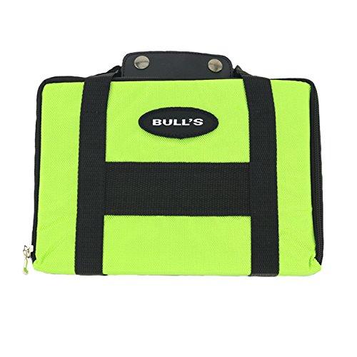BULL'S MSP Wallet Darttasche Grün mehrere Sätze Darts viel Zubehör trendsportprofi Checkout Table (Klein Flight Case)