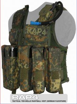 """RAP4 Taktische Weste """"Tactical Ten"""" - BW tarn - extra groß"""