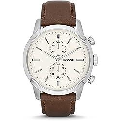 Fossil Townsman Chronograph Off-White Dial Men's Watch - FS4865