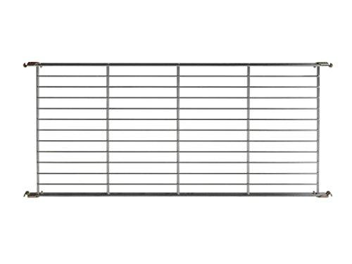 Balton Gitterboden BIII mit 4 Beschlägen für Regal Systeme, Metall, Chrom, 85 x 38 x 2 cm (2 X Regal 4)
