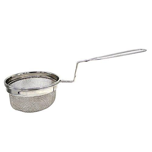 Friggitrice per pentole in acciaio inox, filtro per friggere, 14 X 5.5 x 2.5 pollici (argento), giorno di Pasqua / festa della mamma / regalo del venerdì santo