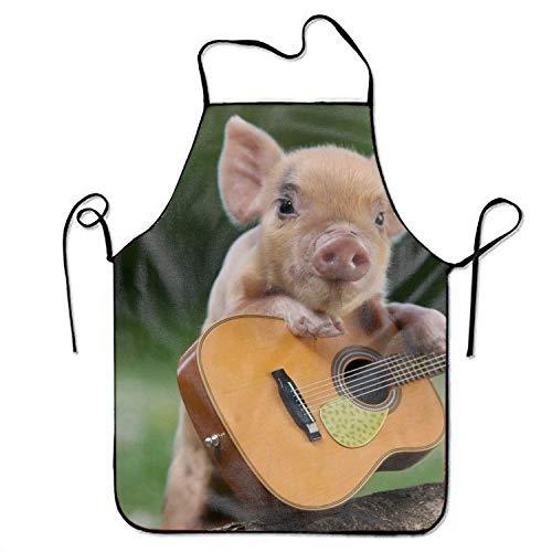 Drachen Lady Kind Kostüm - LarissaHi Taille Schürzen für Frauen Schürzen für Kinder Mädchen Tier Schwein Cute Guitar Kitchen Woman Schürzen Schürzen