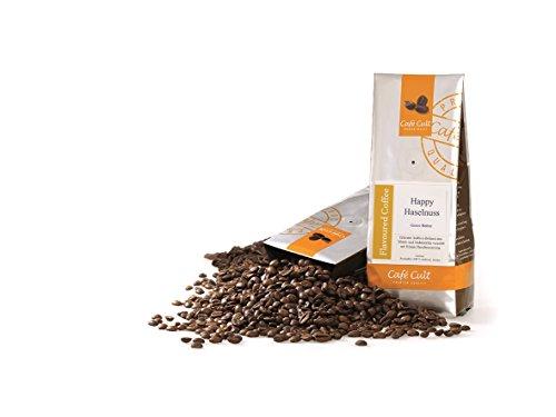 1kg - frischer Aroma-Röstkaffee - Café Cult - Happy Haselnuss - ganze Bohnen