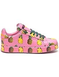 Dolce E Gabbana Mujer CK0064AI090HF716 Multicolor Cuero Zapatillas
