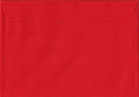 Lot de 50 enveloppes unies Rouge coquelicot C5 – 162