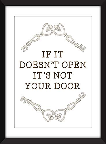 If It Doesn't Open It's Not Your Door - Unframed Print/Ungerahmter Druck -