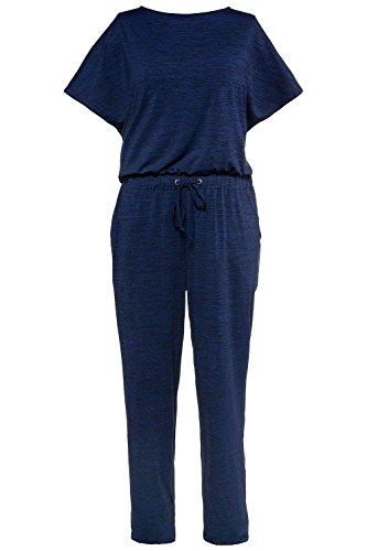 Studio Untold Damen Jumpsuit Jersey-Overall dunkelblau-melange