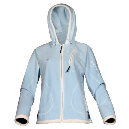 COX SWAIN Damen FLEECE Outdoor Jacke Alice - 3 Farben - mit Kaputze, Colour: Blue, Size: M