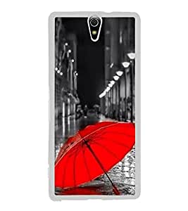 Red Umbrella 2D Hard Polycarbonate Designer Back Case Cover for Sony Xperia C5 Ultra Dual :: Sony Xperia C5 E5533 E5563