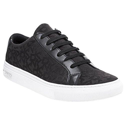 DKNY Court Lace Up Sneaker Femme Baskets Mode Noir