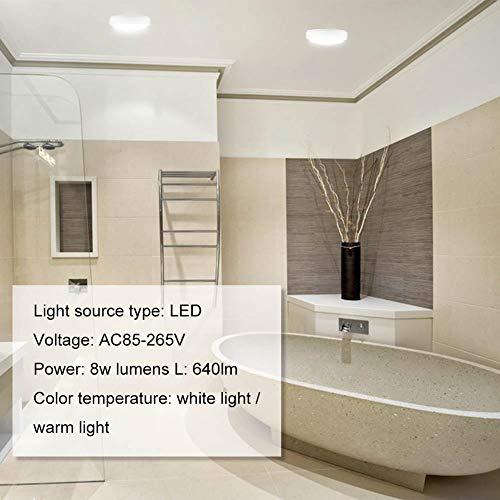 Rotondo impermeabile e a prova di umidità bagno lampada LED bagno ...