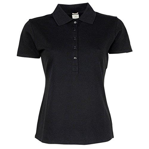 Tee Jays - Polo stretch à manches courtes - Femme Noir