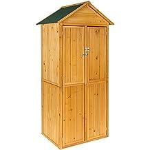 TecTake Caseta de exterior Armario de madera