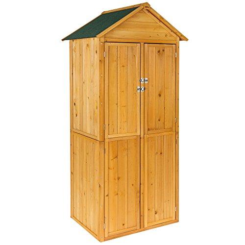 TecTake Armoire de jardin remise pour outils abri d'atelier en bois avec toit en pente | 69 x 60 x...