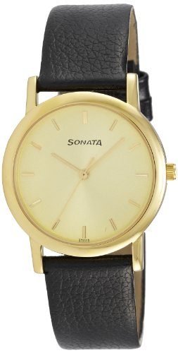 Sonata Analog Gold Dial Men's Watch -NJ7987YL01W