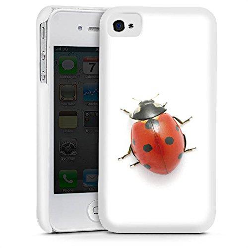 Apple iPhone 4 Housse Étui Silicone Coque Protection Coccinelle Coccinelle Insecte Cas Premium mat