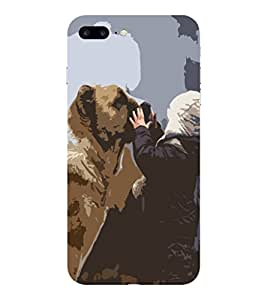 APPLE IPHONE 7 PLUS DOG BOY PRINTED BACK CASE COVER by SHAIVYA